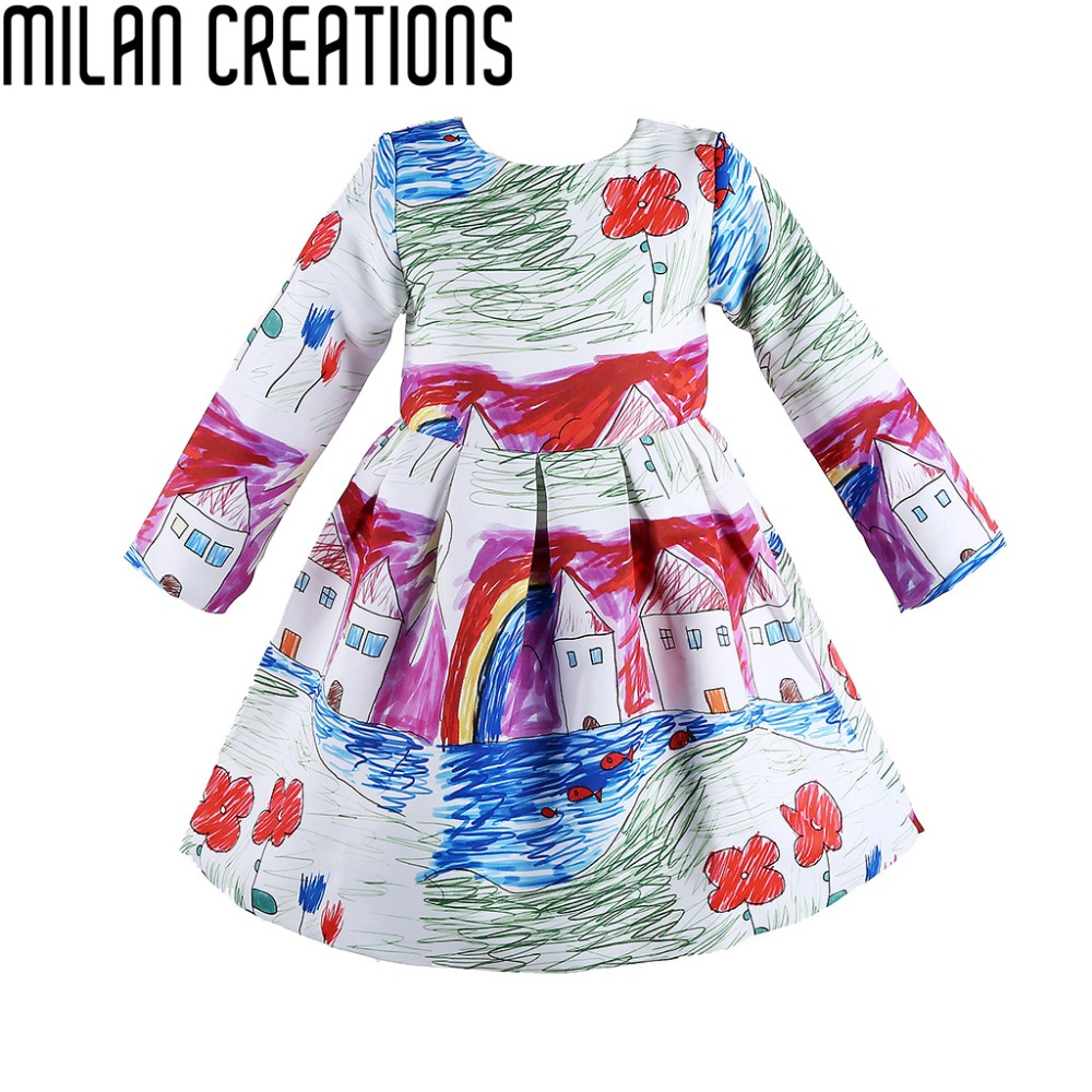 designer girls dresses winter 2015 brand new baby girls fall dress fan floral children dress kids clothes princess girl dress baby girl dress designs