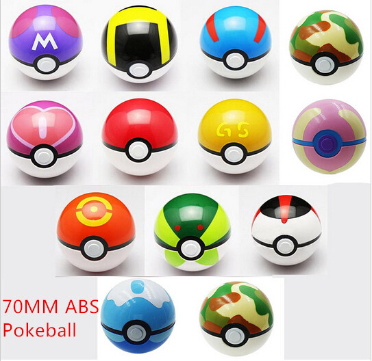 Pokemon Ball Figures 13pcs Lot Abs Pokeball Toys 7cm Super Mas